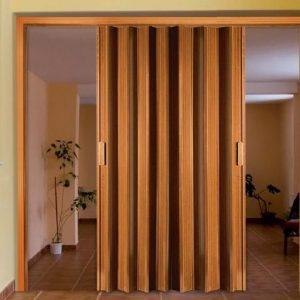 Puerta Plegable de PVC Foliada Ciega